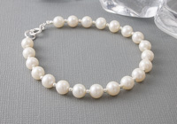 """Simplicity"" Freshwater Pearl Bracelet"