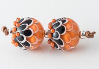 Lampwork Dahlia Beads