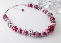 Pink Lampwork Necklace