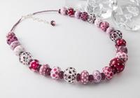 Pink Lampwork Necklace