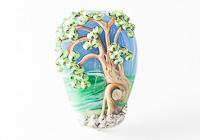 Tree Landscape Lampwork Bead