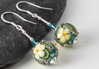 Flowery Lampwork Earrings alternative view 1