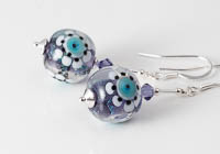 Dichroic Lampwork Earrings alternative view 1