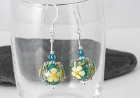 Flowery Lampwork Earrings alternative view 2