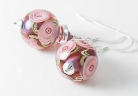 Pink Rose Lampwork Earrings alternative view 2