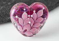 Dichroic Lampwork Heart Bead