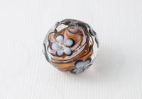 Flower Swirl Lampwork Bead