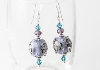 Purple Flowery Lampwork Earrings alternative view 1