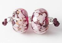 Pink Lampwork Bead Pair