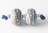 Denim Lampwork Beads