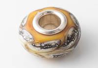 Mustard Silver Cored Lampwork Bead