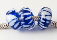 Blue Lampwork Charm Beads