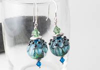Dahlia Lampwork Earrings alternative view 2