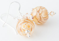 Amber Lampwork Earrings alternative view 1