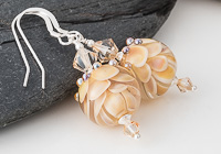 Amber Lampwork Earrings