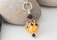 Dahlia Lampwork Pendant alternative view 1