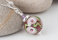 Pink Rose Lampwork Pendant alternative view 1