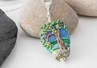 Lampwork Tree Pendant