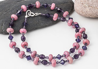 Pink and Purple Necklace