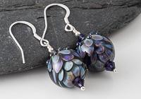 Dichroic Dahlia Lampwork Earrings