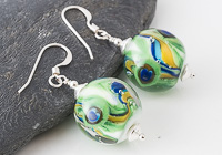 Peacock Lampwork Earrings