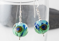 Peacock Lampwork Earrings alternative view 1