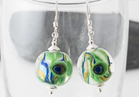Peacock Lampwork Earrings alternative view 2