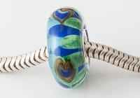 Peacock Lampwork Charm Beads