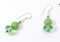 """Green Grass"" Earrings"