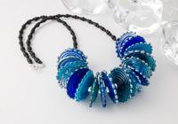 Blue Lampwork Disc Necklace