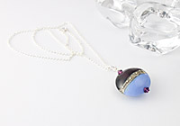 "Silver Lampwork Necklace ""Periwinkle"" alternative view 1"