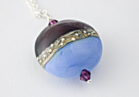 "Silver Lampwork Necklace ""Periwinkle"""