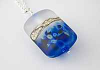 """Blue Velvet"" Lampwork Pendant Necklace"