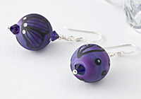 Art Lampwork Bead Earrings