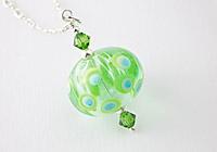 Green Spotty Hollow Bead Pendant