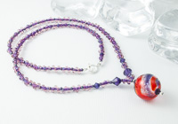 Dichroic Swirl Lampwork Necklace