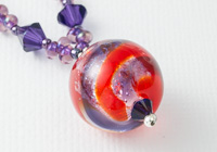 Dichroic Swirl Lampwork Necklace alternative view 1