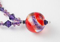 Dichroic Swirl Lampwork Necklace alternative view 2