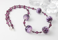 Purple Lampwork Dahlia Necklace