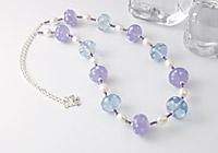 Lilac Spotty Lampwork Necklace