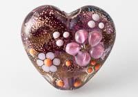 Lampwork Dichroic Heart Bead