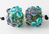 Lampwork Flowery Beads
