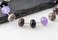 Purple and Silver Lampwork Bracelet alternative view 1