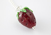 """Strawberry"" Lampwork Necklace"