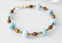 Bronze and Blue Bracelet