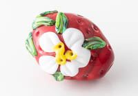 Strawberry Lampwork Bead