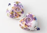 Lampwork Heart Beads