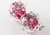 Red Lampwork Beads