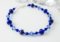 Blue Lampwork Bracelet