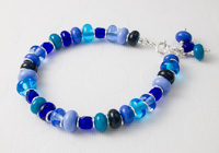 Turquoise and Blue Lampwork Bracelet
